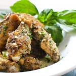 Baked Parmesan Garlic Chicken Wings from Steamy Kitchen