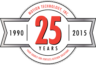 Happy 25th Anniversary to Motion Technology, Inc. Celebrating 25 years of Ventless Kitchen Solutions.