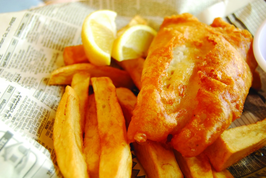 Fish and Chips made in a ventless fryer