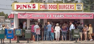 Pink's Hot Dog Stand in Hollywood - Photo courtesy of PinksHollywood.com