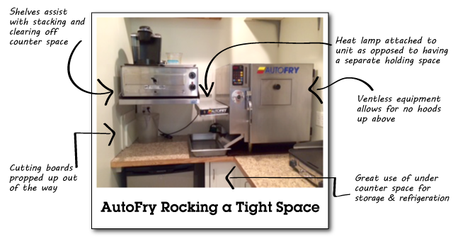 P2s Pub Tiny AutoFry Space - Making the Most of a Small Kitchen Space  MTI Blog Post