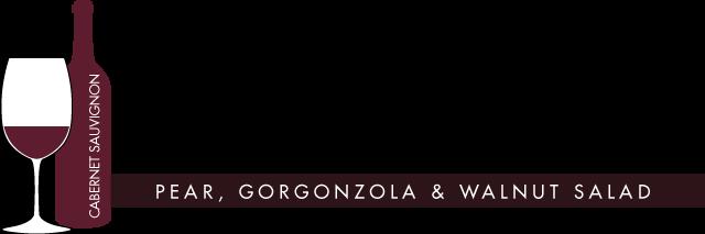Gorgonzola and Walnut Salad Paired with Cabernet Sauvignon