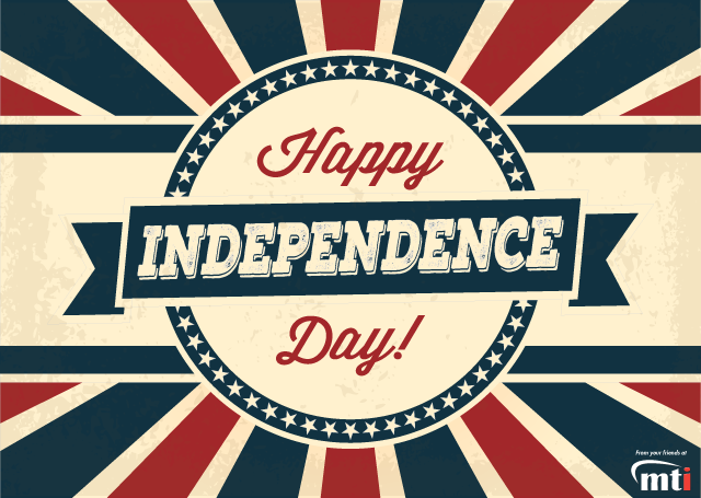 Happy Independence Day from MTI, home of the AutoFry and MultiChef, both made in america.