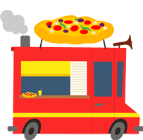 Pizza food truck menu