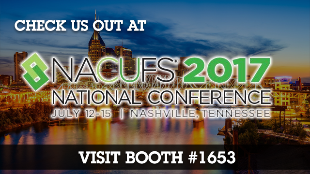 Catch us at the 2017 NACUFS National Conference