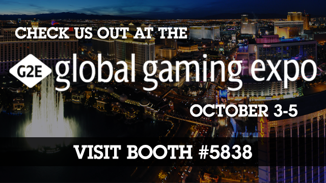 Meet us at the Global Gaming Expo (G2E Show)